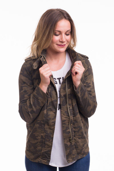 Hide and Chic Camo Anorak Jacket || shoprollick.com