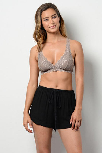 Right Time Right Lace Bralette in Cocoa