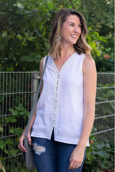 Back to Basics Button-Up Tank