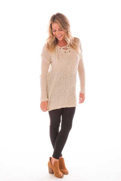 Willing and Cable Knit Sweater Tunic