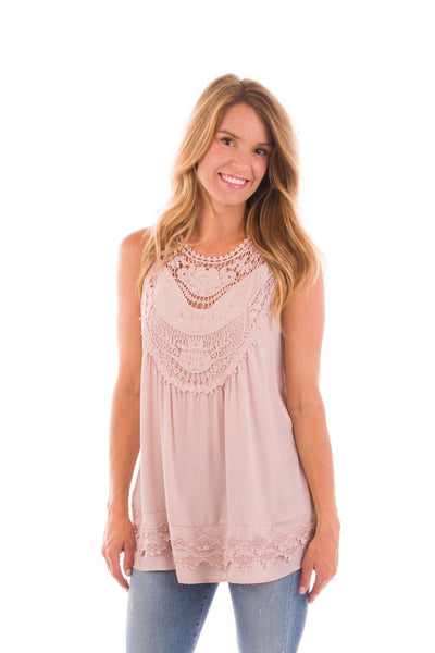 Princess Charming Crochet Detail Tank