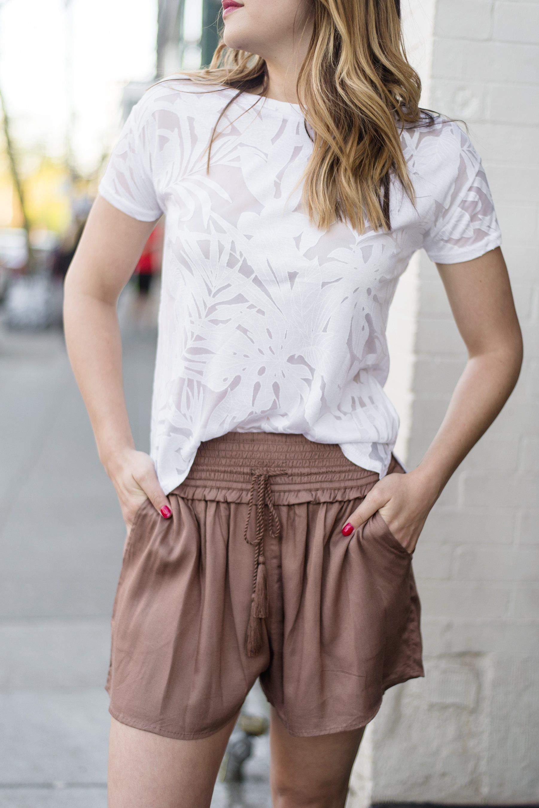 On the Flip Side Tassel Shorts