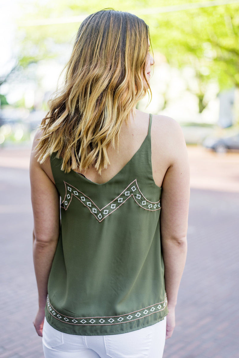 Bird's the Word Embroidered Tank