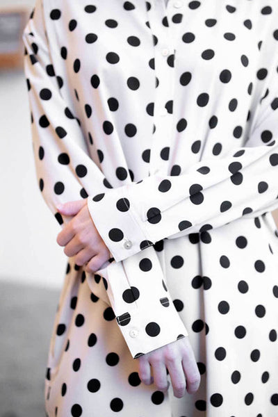 Polka Dotted to Perfection Button-Down Dress