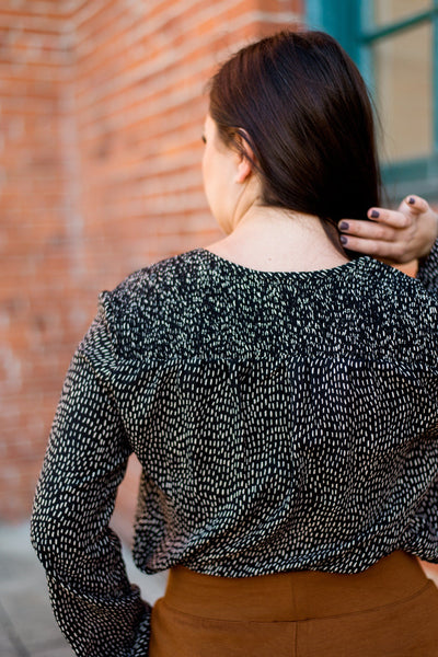 A Spot in the Dark Printed Blouse