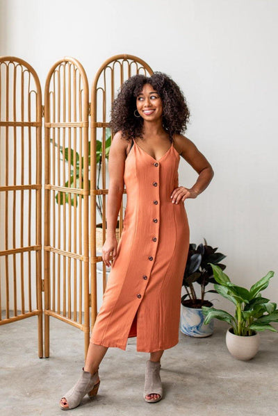 The Spice is Right Button Midi Dress
