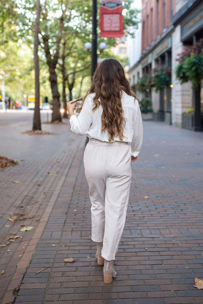 On Neutral Ground Tie-Waist Trousers