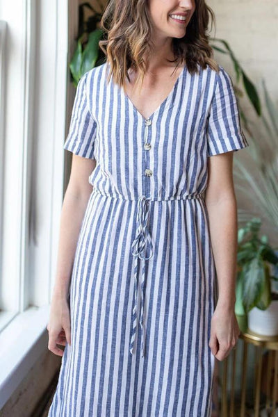 Let's Sail Away Striped Dress