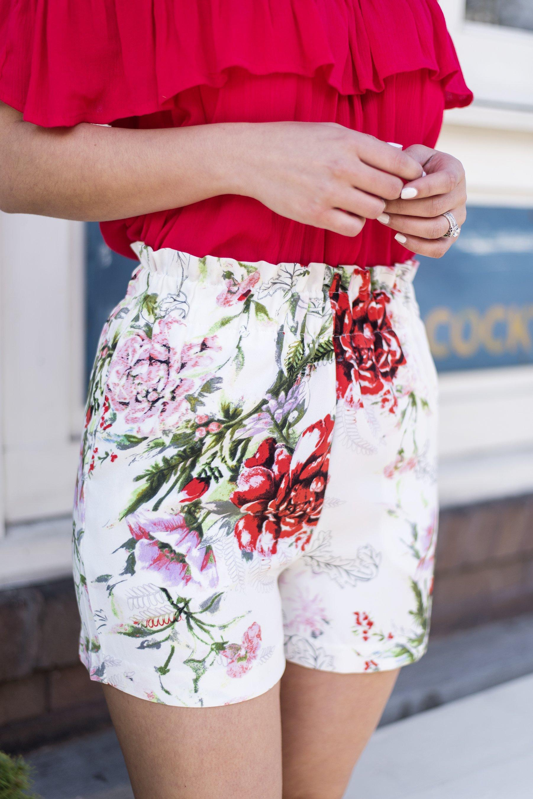 Garden Party High Waist Shorts