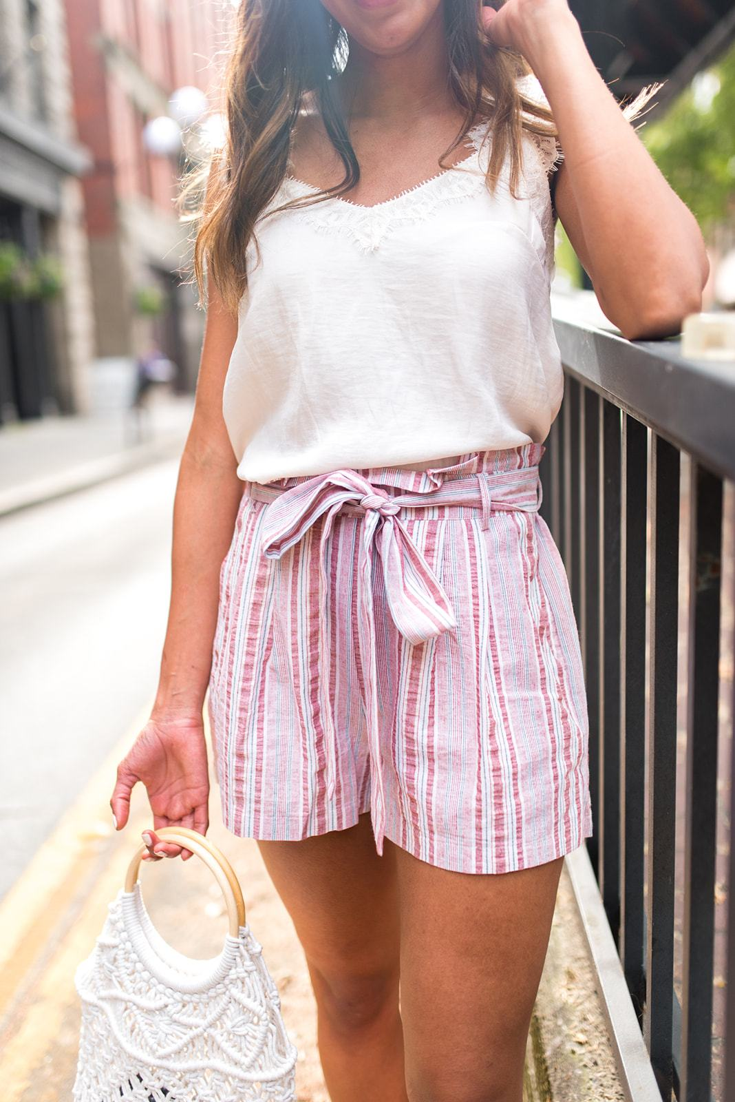 Mute It and Cute It Tie Waist Shorts