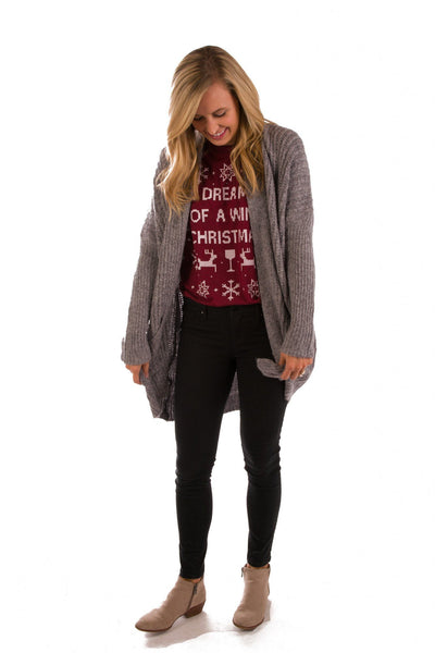 Hibernation Station Chunky Cardigan Sweater