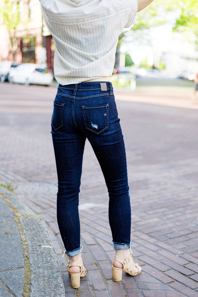In the Jeans Distressed Skinnies in Indigo
