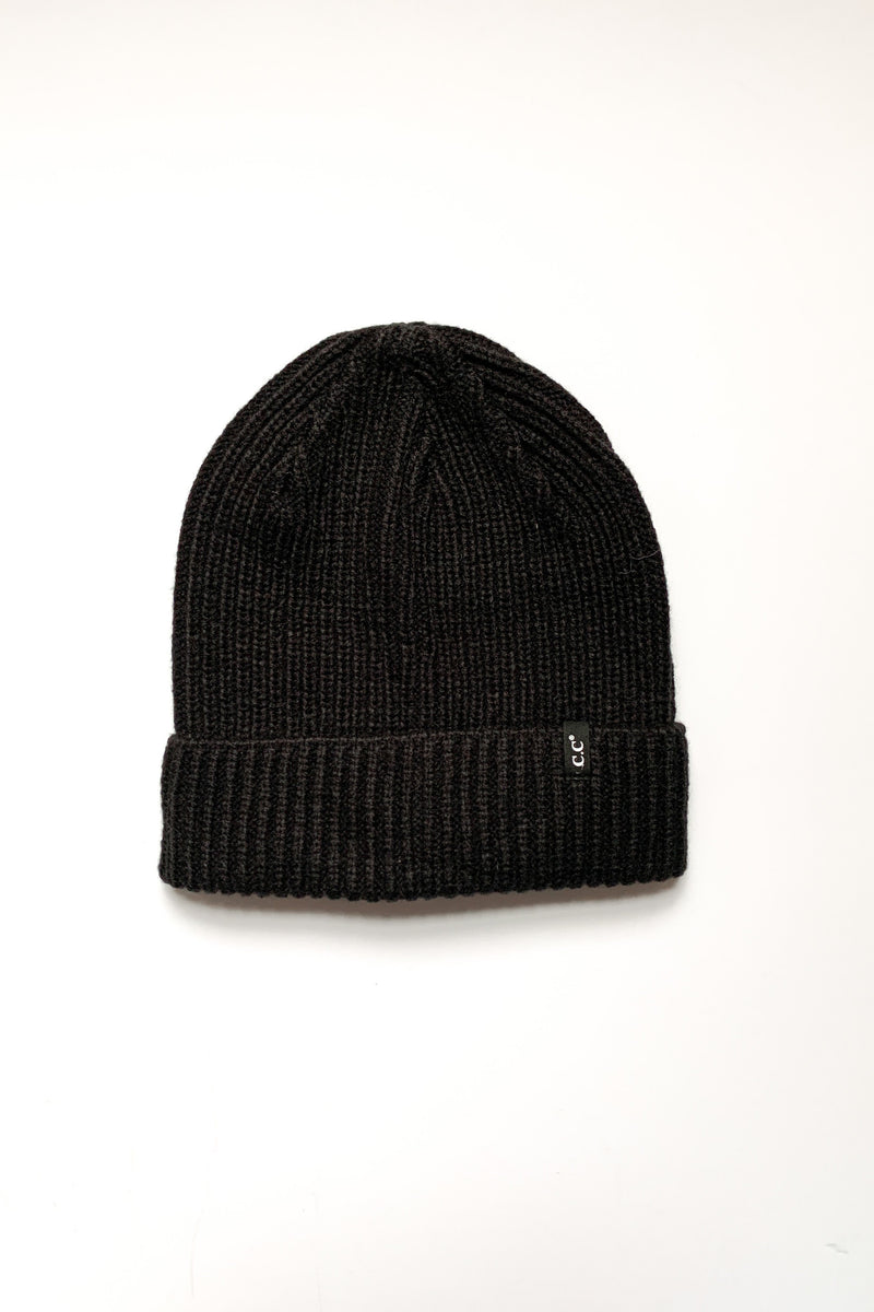Off the Cuff Ribbed Beanie