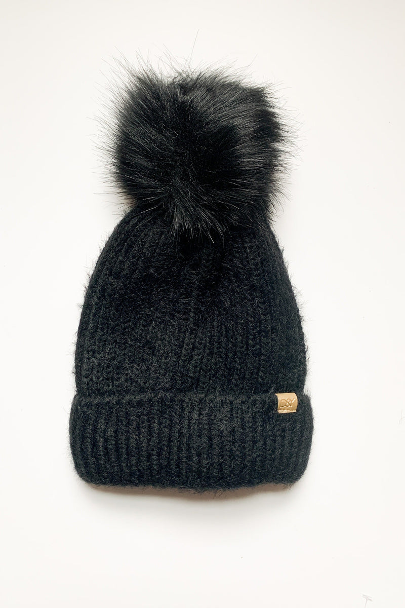 Easy Fuzz It Pom Pom Beanie