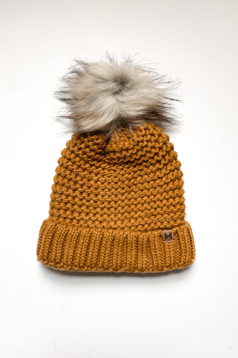 Cap It Off Fur Pom Beanie
