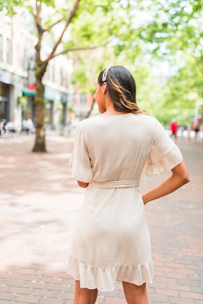 Cupid's Ruffle Wrap Dress