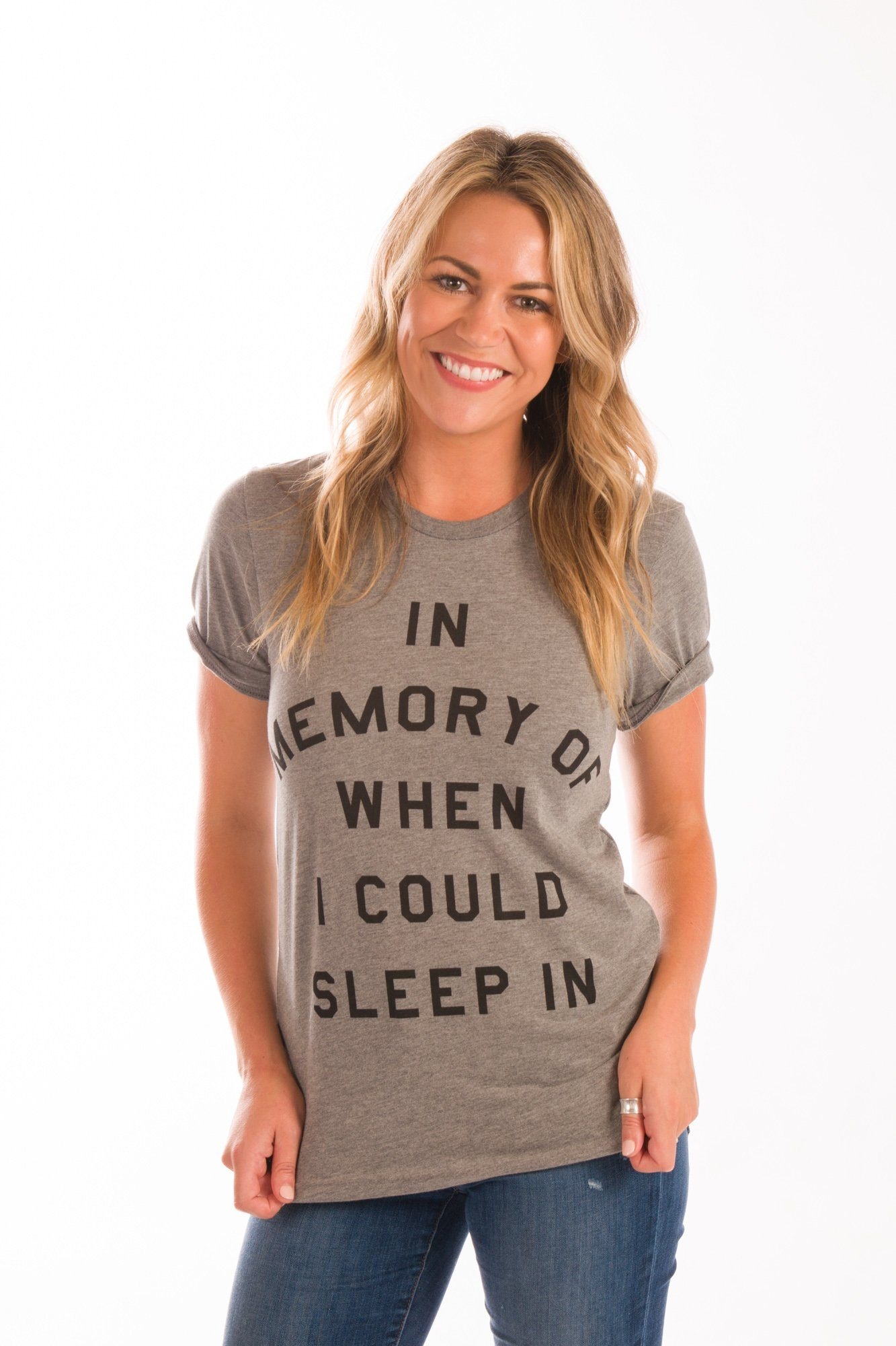 In Memory Of When I Could Sleep In Graphic Tee