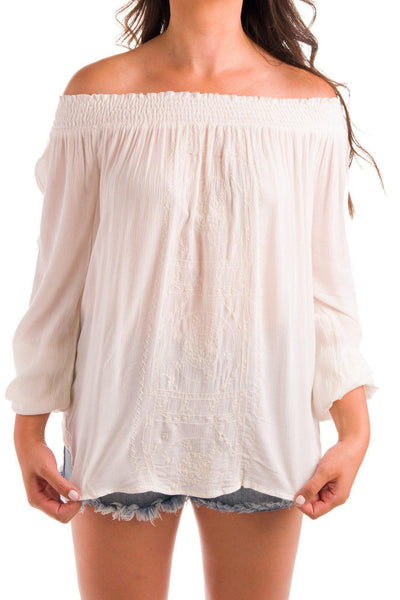 Boats and Bohos Off Shoulder Blouse
