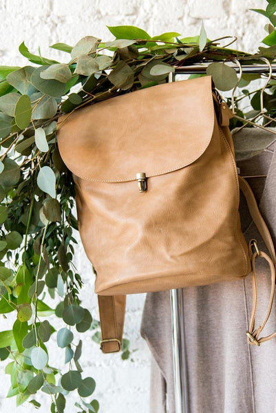 It's in the Bag Minimal Backpack in Beige