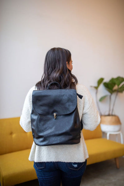 It's in the Bag Minimal Backpack in Black