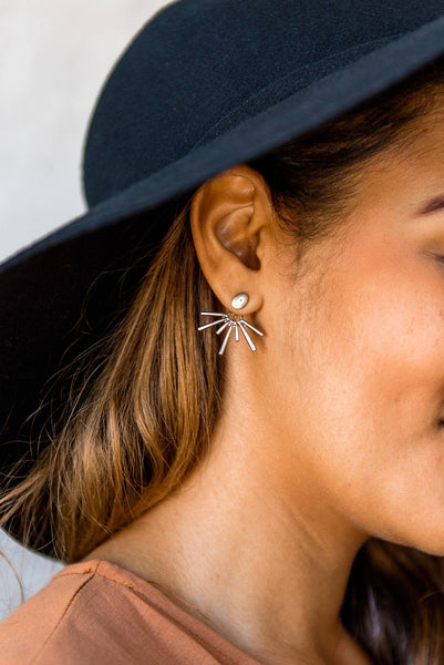 Burst Things First Starburst Ear Jacket Earrings