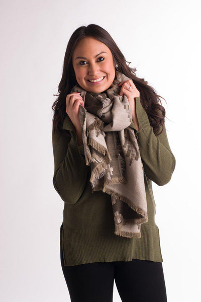 Play Your Jacquards Right Blanket Scarf
