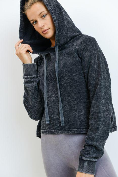 Hoodie Two Shoes Cropped Pullover