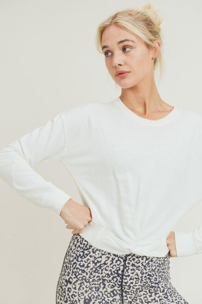 Twist of Fate Cropped Pullover