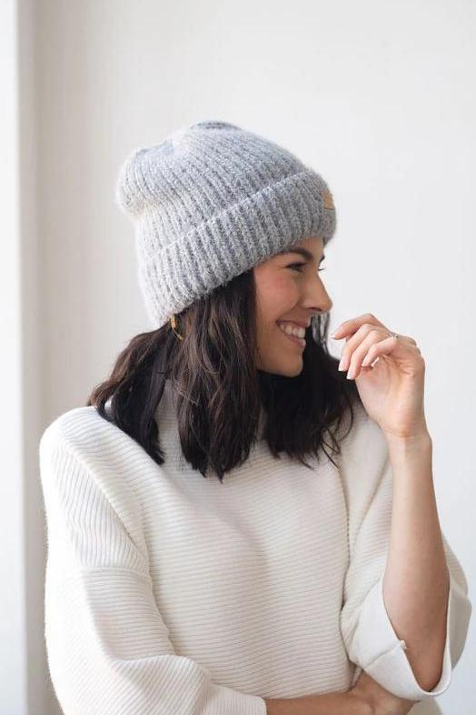 Cap it Off Ribbed Beanie in Blue