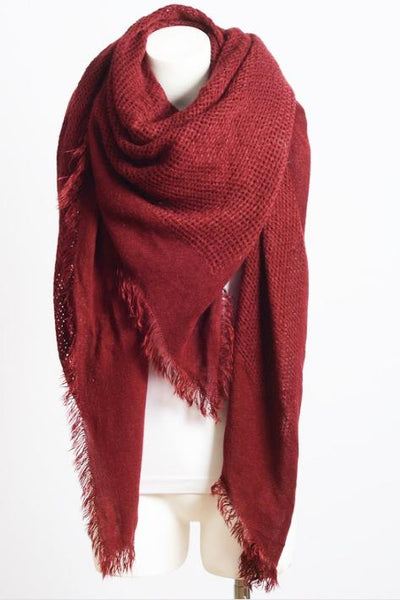 In the Fray Crimson Blanket Scarf