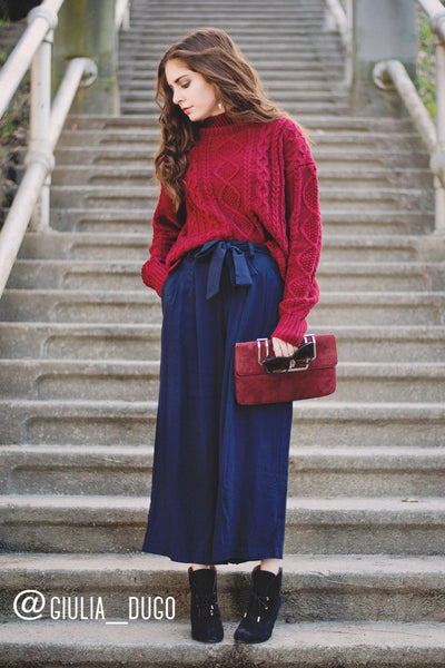 License to Chill Culottes in Navy