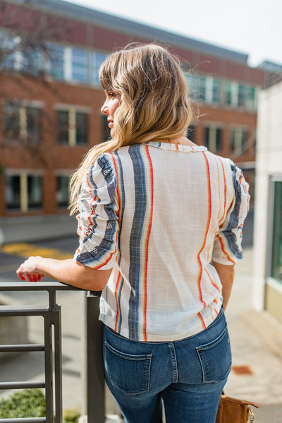 End of the Rainbow Button-Up Blouse