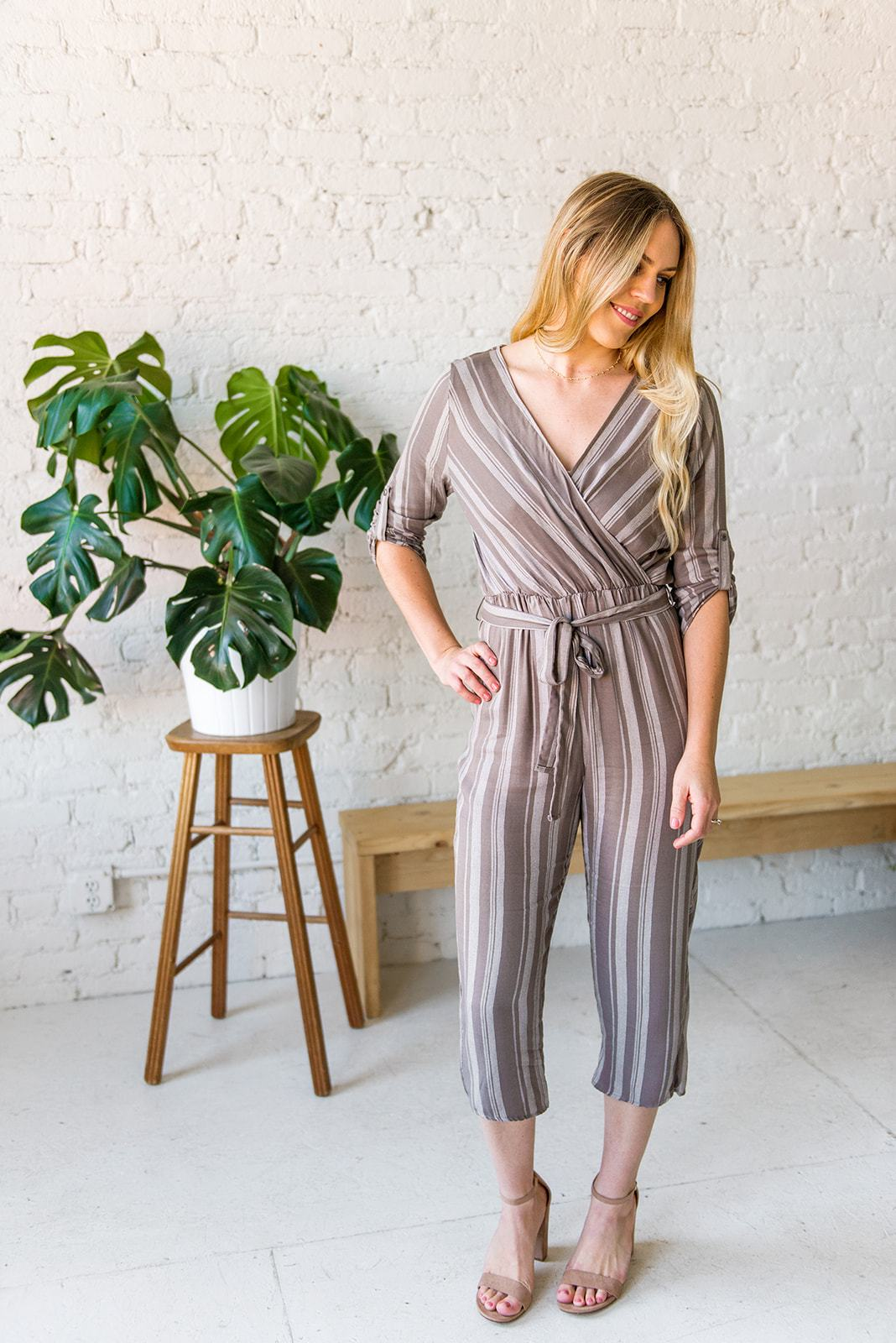 Jump On It Tie-Waist Jumpsuit