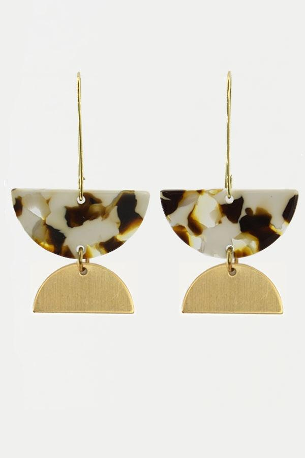 Shell Yes Acrylic Dangle Earrings