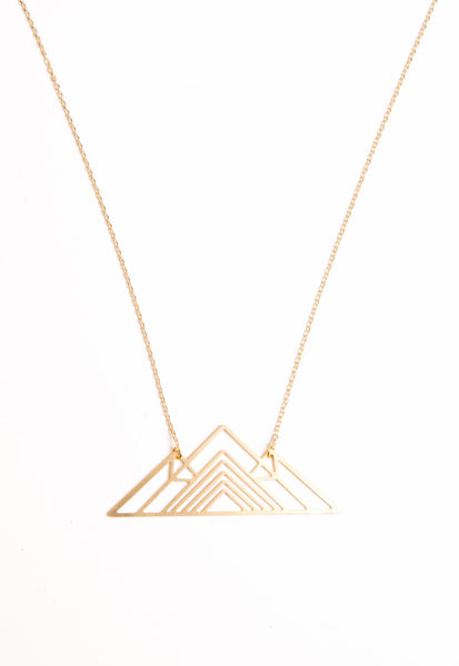 Peak Performance Mountain Necklace || shoprollick.com