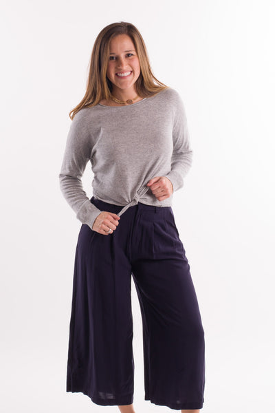 License to Chill Culottes in Navy || shoprollick.com