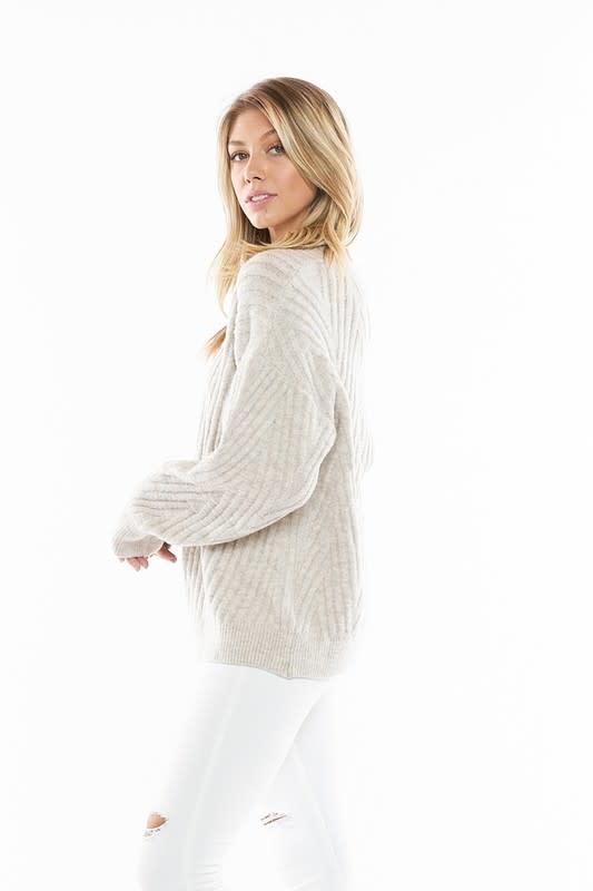 Between the Lines Textured Sweater
