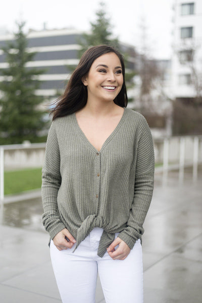 Knit Picky Button-Up Thermal Tee