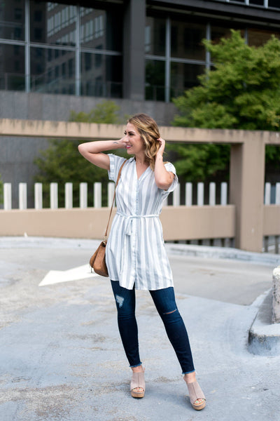 Change Your Tunic Button-Up Blouse