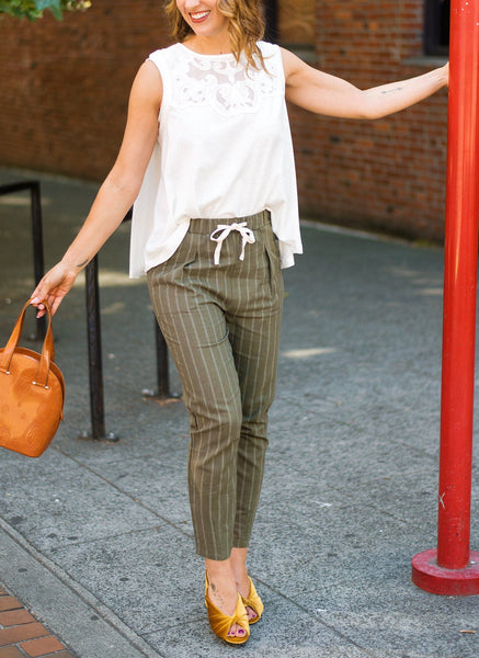 String Me Along Drawstring Pants