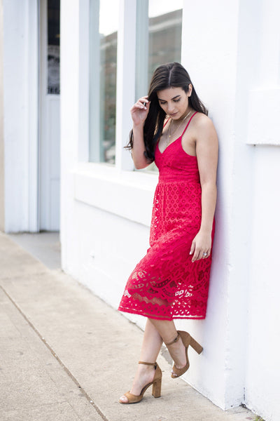 Don't Worry Be Poppy Lace Dress