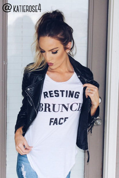 Resting Brunch Face Flowy Tee