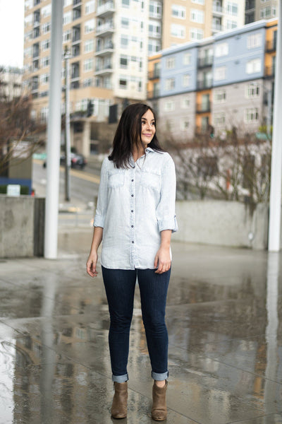 The Simple Things Striped Tencel Shirt