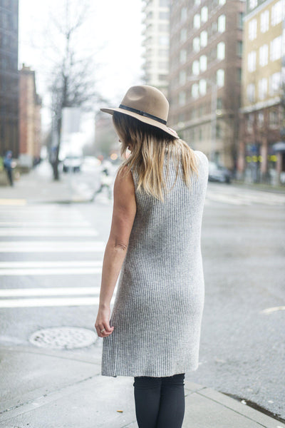 In the Tunic of Time Sleeveless Sweater