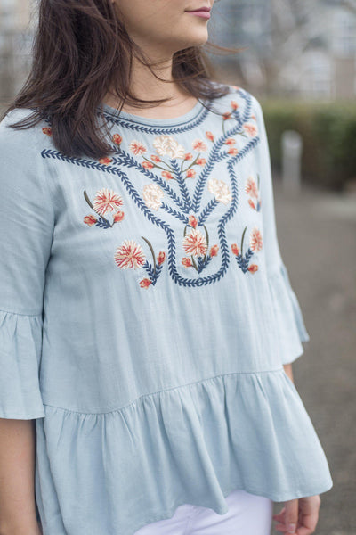 Detail As Old As Time Peplum Blouse
