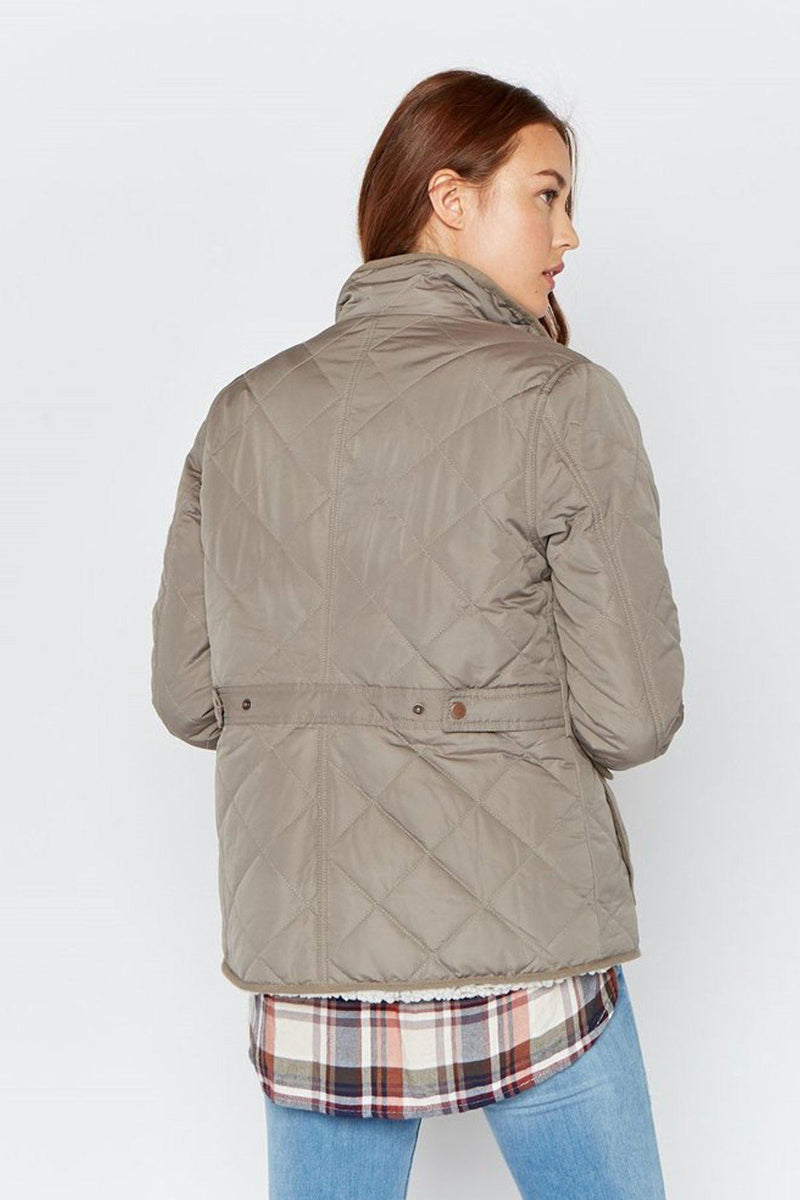 Quilt Trip Sherpa-Lined Quilted Jacket