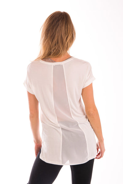 Sheer Genius Scoop Neck Tee
