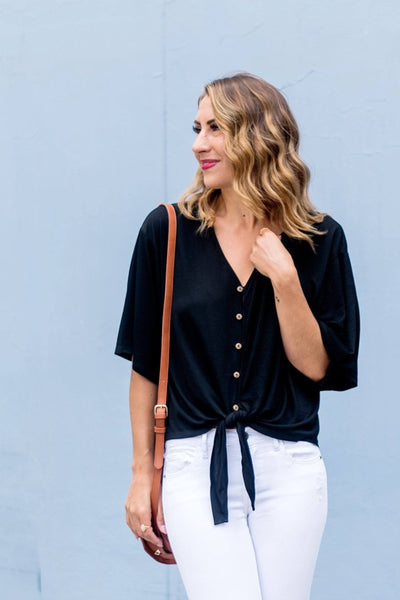 Chic Got Real Tie Waist Top