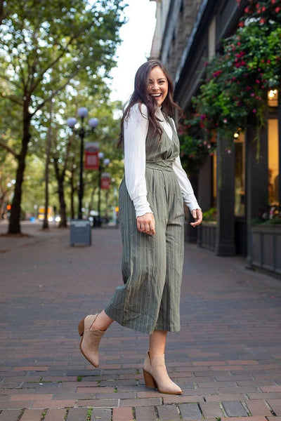 Jumpin' Jumpin' Striped Jumpsuit