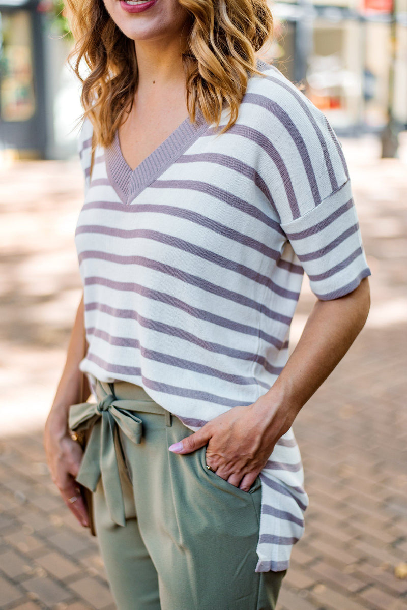 Well-Prepped Lightweight Striped Sweater